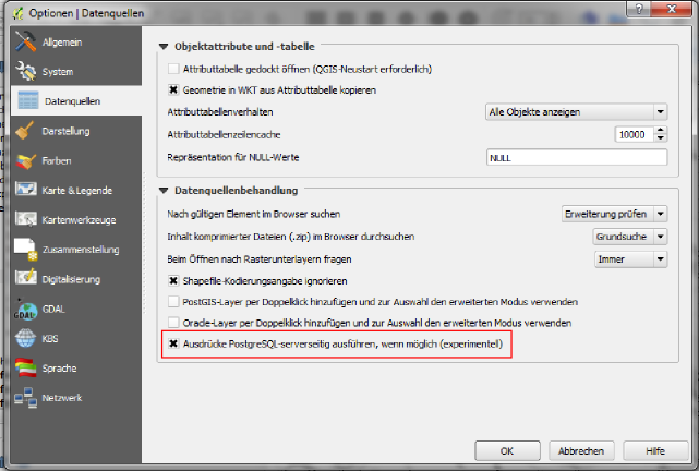 PostgreSQL Expression Compiler für Serverseitiges Filtern