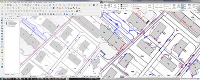 DXF Export - Vergleich QGIS (links) und Autodesk TrueView (rechts)