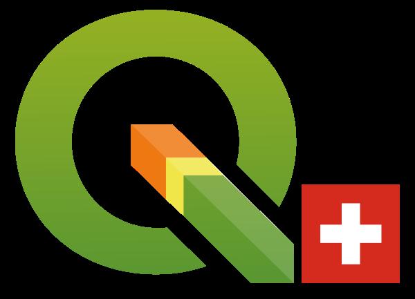 Logo QGIS-Usergruppe Schweiz (Raster)
