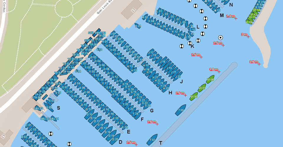 Harbour map Nyon source mapnyonch QGIS usergroup Switzerland